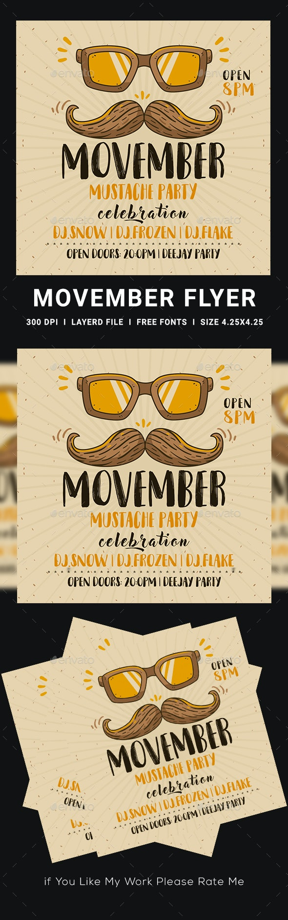 Movember Flyer - Clubs & Parties Events