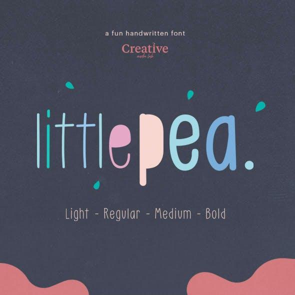 Little Pea - Handwritten Font