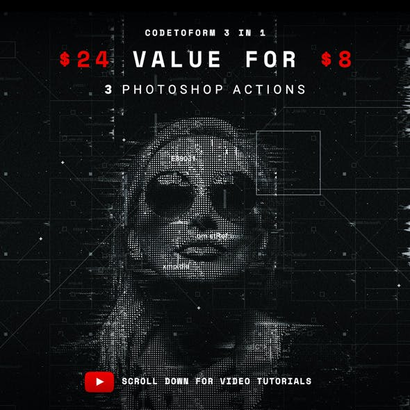 Codetoform 3 in 1 Photoshop Action Bundle