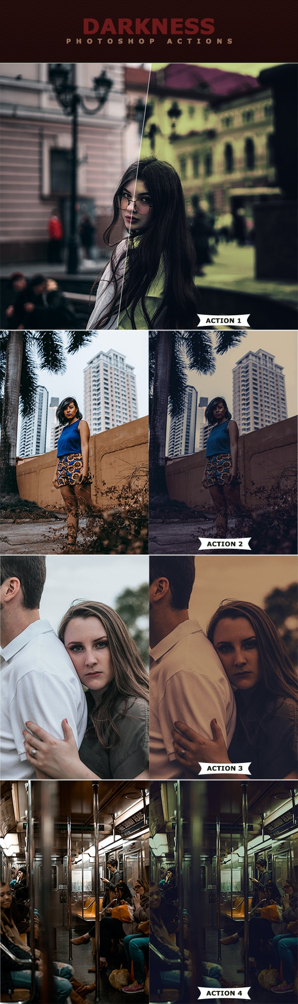 Darkness Photoshop Actions - Photo Effects Actions