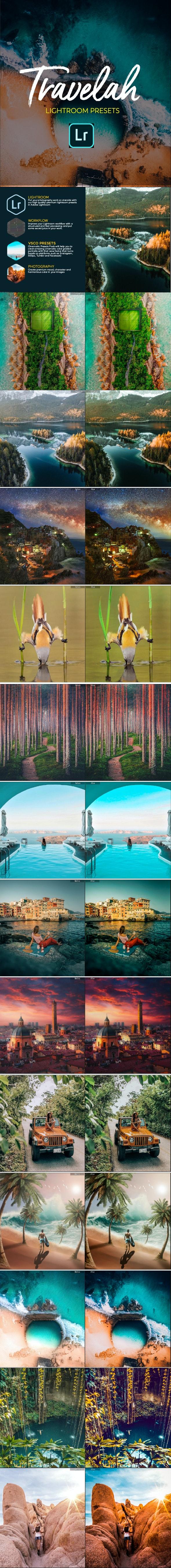 Travela Travel Blogger Lightroom Presets - Landscape Lightroom Presets