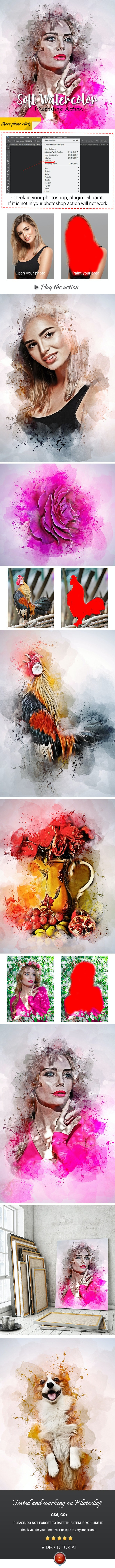 Soft Watercolor Photoshop Action - Photo Effects Actions