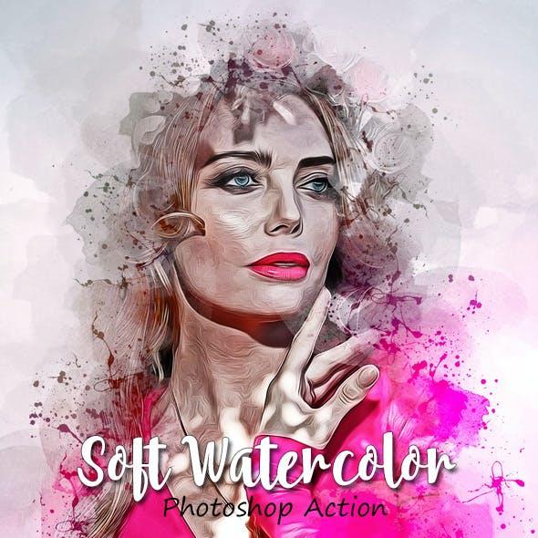Soft Watercolor Photoshop Action