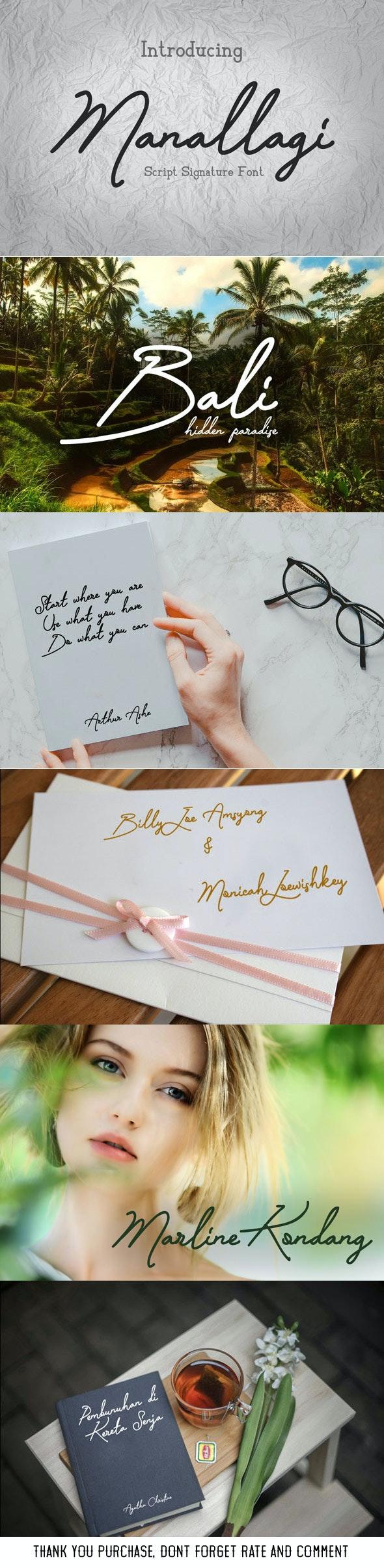 Manallagi - Script Handwritten Font - Hand-writing Script