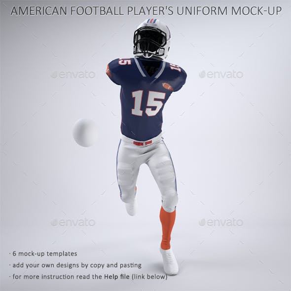 American Football Player's Uniform Mock-Up