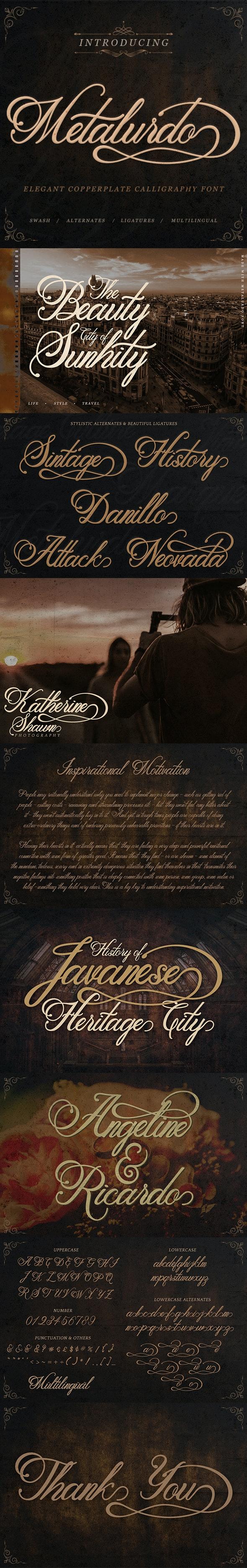 Metalurdo - Calligraphy Script