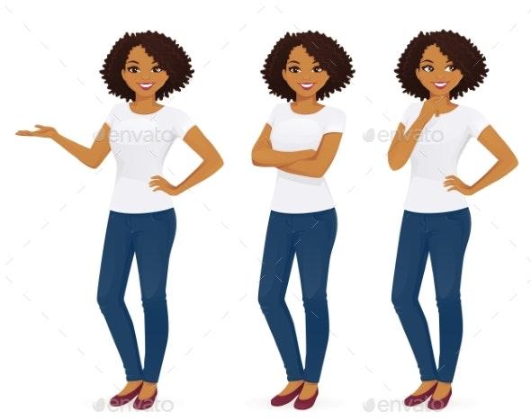 Woman in Jeans - Miscellaneous Vectors