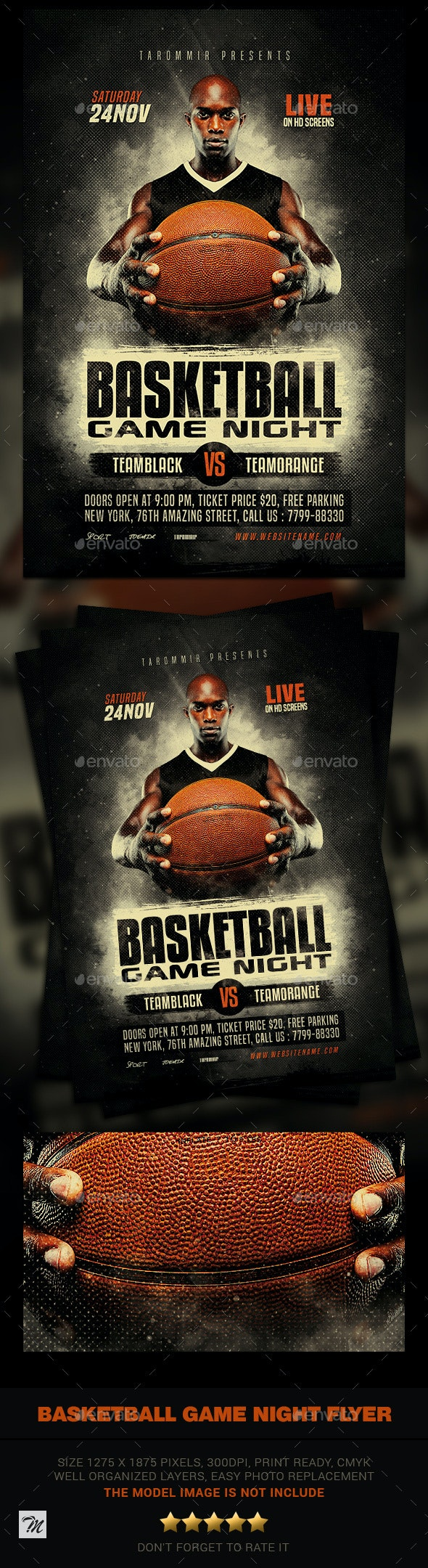 Basketball Game Night Flyer - Sports Events