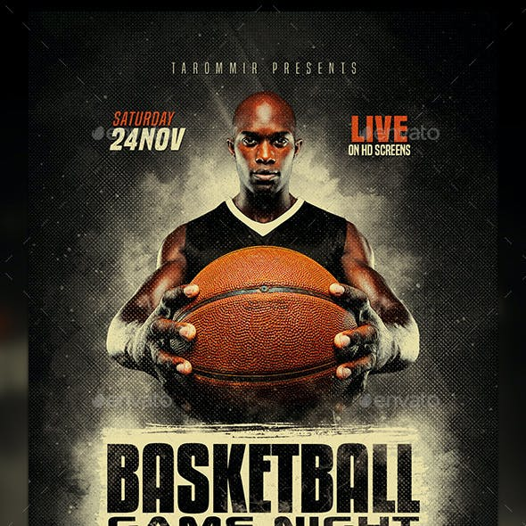 Basketball Game Night Flyer
