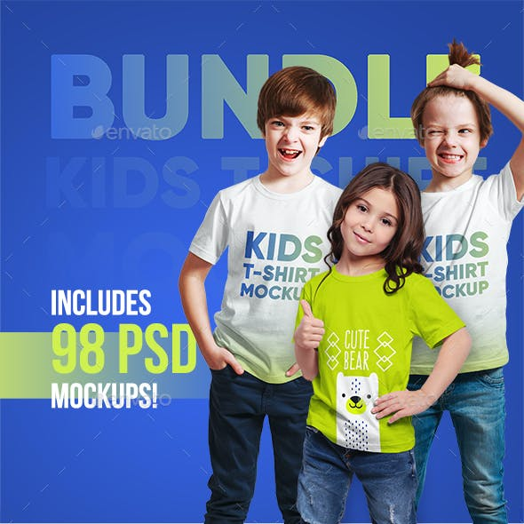 Kids T-Shirt Bundle Mockups