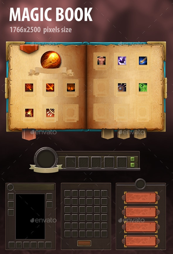 Magic Book - User Interfaces Game Assets