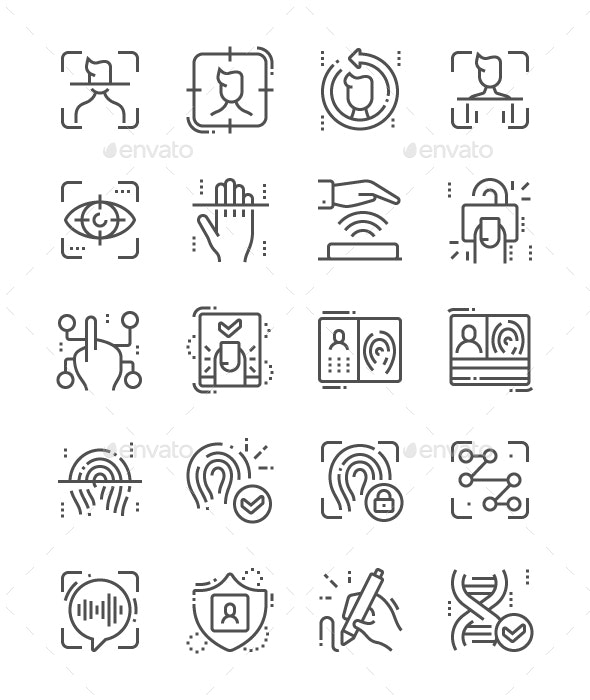 Biometrics Line Icons - Miscellaneous Characters