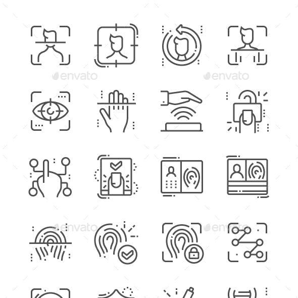 Biometrics Line Icons