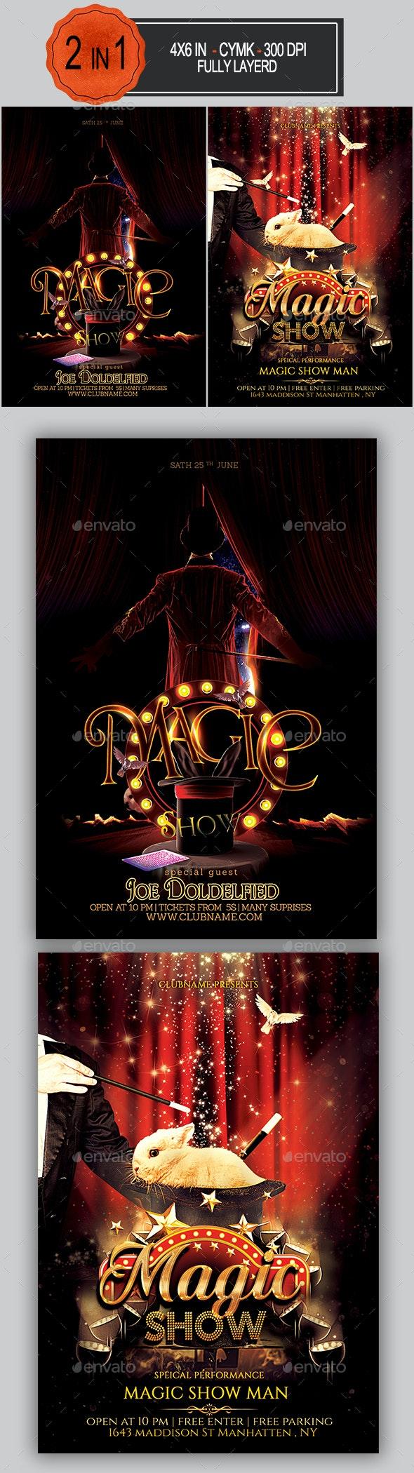 Magic Show Flyer Bundle - Concerts Events