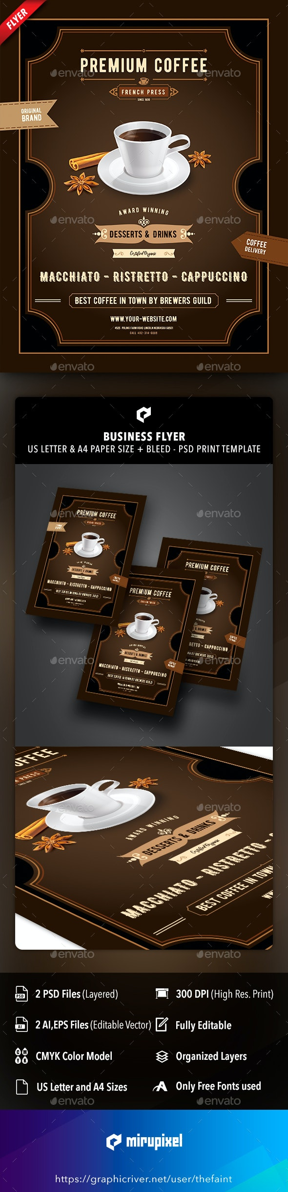 Coffee and Spice Business Flyer - Commerce Flyers