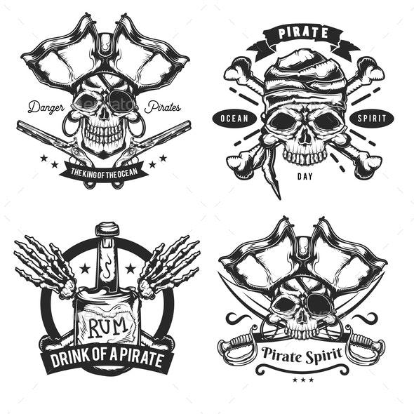 Set of Pirate Elements - Miscellaneous Vectors
