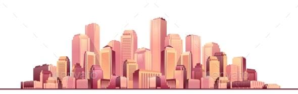 Cityscape Futuristic City - Buildings Objects