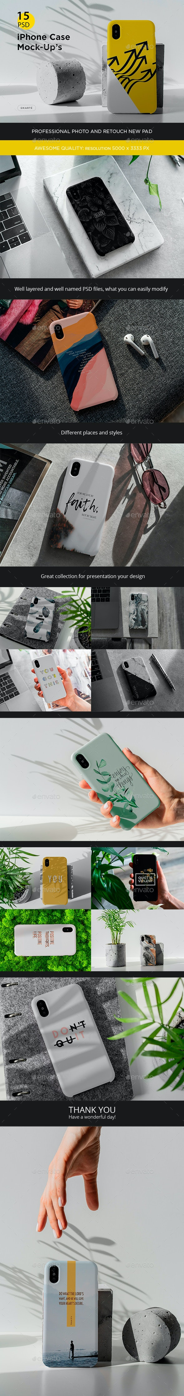 Phone X Case Mock-Up's - Print Product Mock-Ups