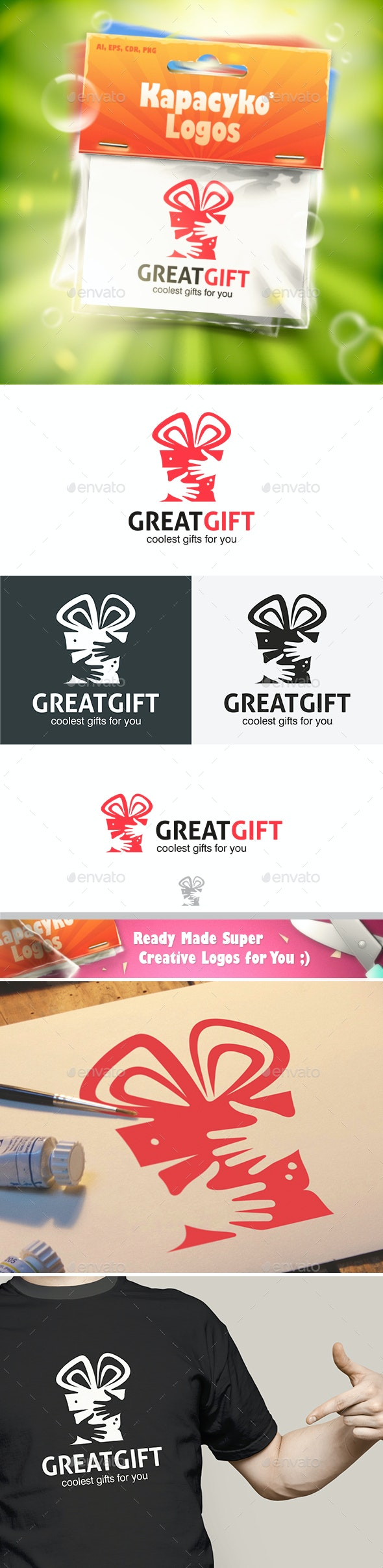 Great Gift Logo - Abstract Logo Templates