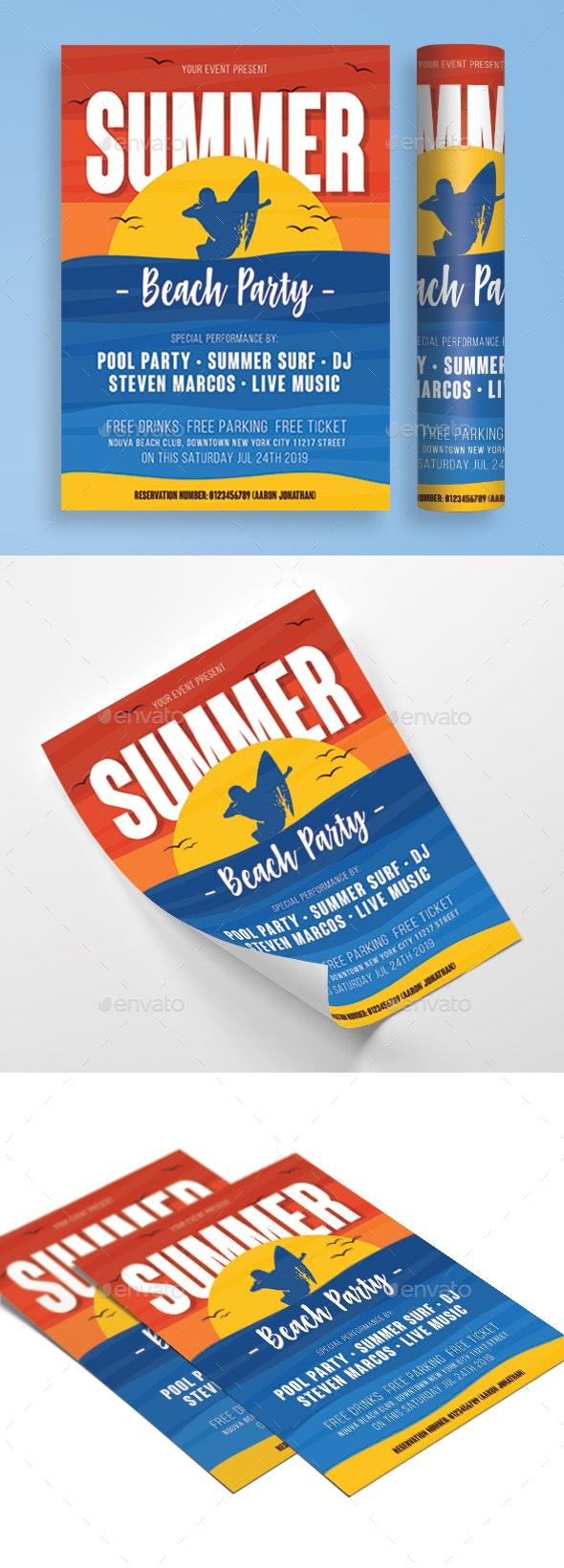 Summer Beach Party - Flyers Print Templates