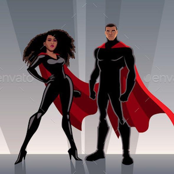 Superhero Couple Black