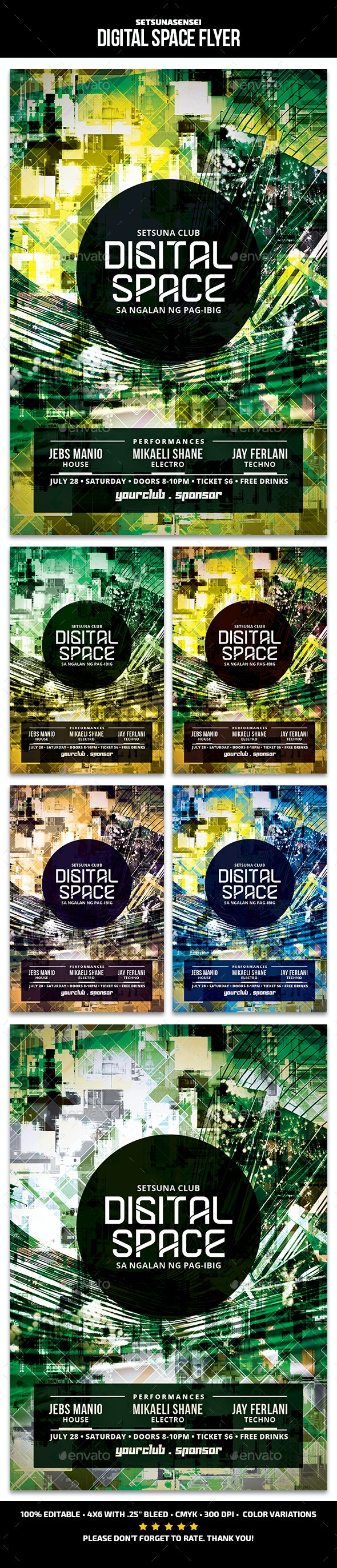 Digital Space Flyer - Events Flyers