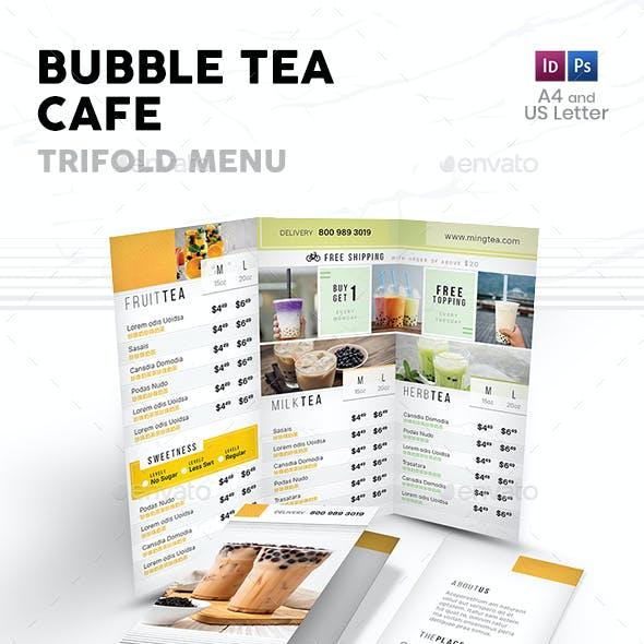 Bubble Tea Trifold Menu 4