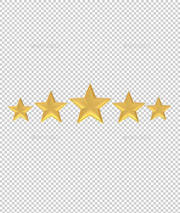 Golden Stars - Objects 3D Renders