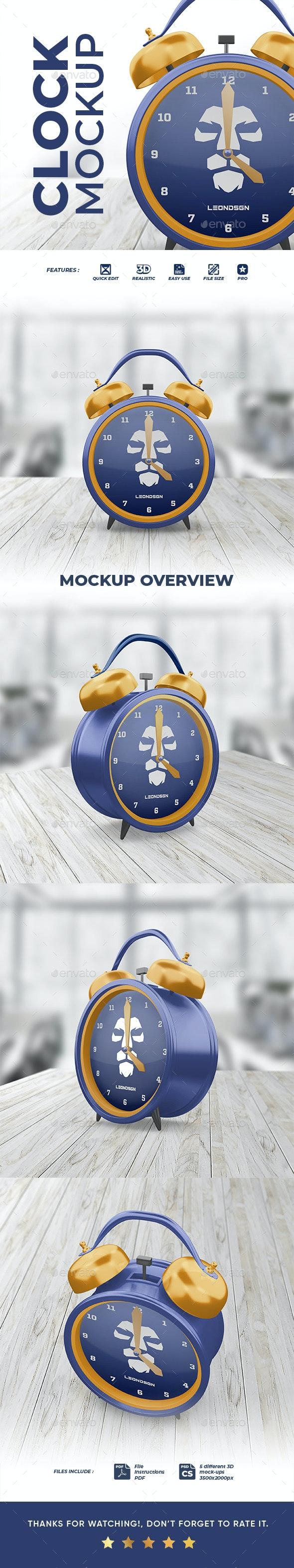 Alarm Clock Mockup - Product Mock-Ups Graphics