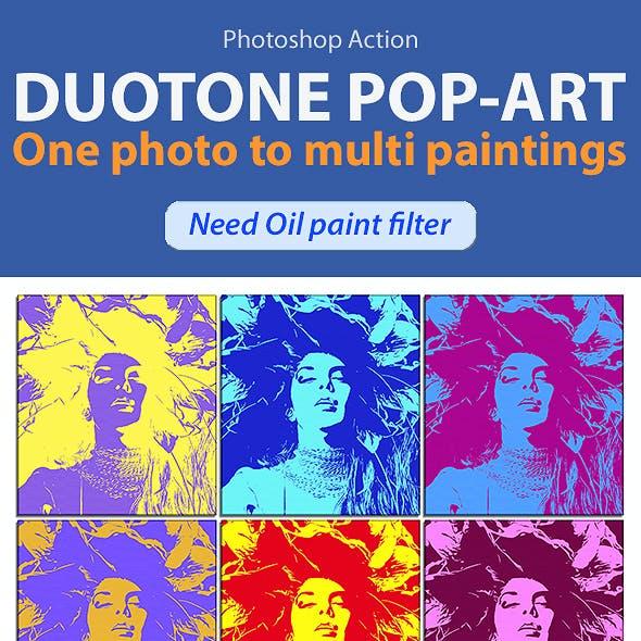 Duotone Pop-Art