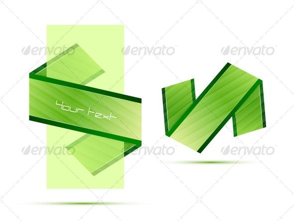 Green ribbon - Decorative Symbols Decorative