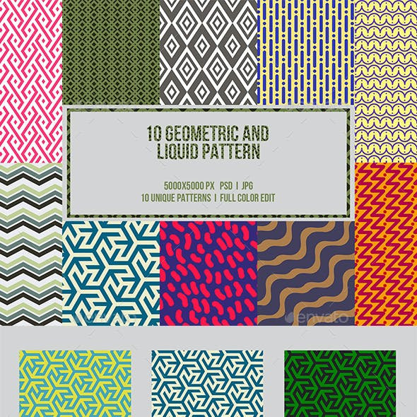 10 Geometric and Liquid Pattern