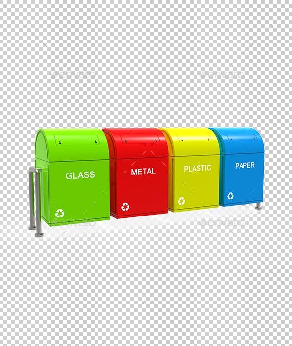 Garbage Bins - Objects 3D Renders