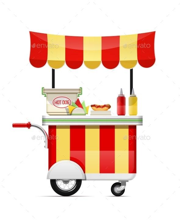 Hot Dog Stand Cartoon