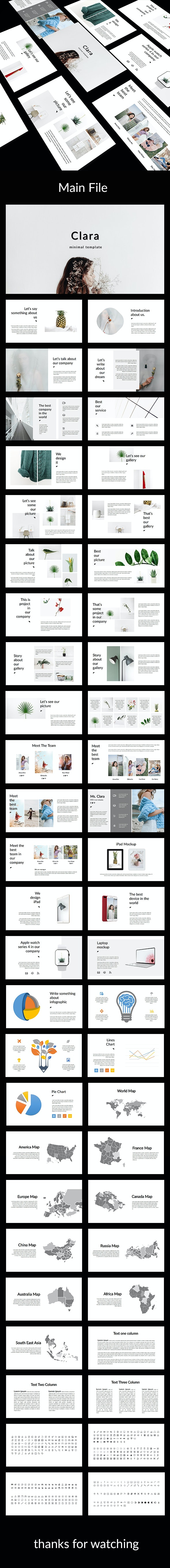 Clara - Creative Google Slides Template - Google Slides Presentation Templates