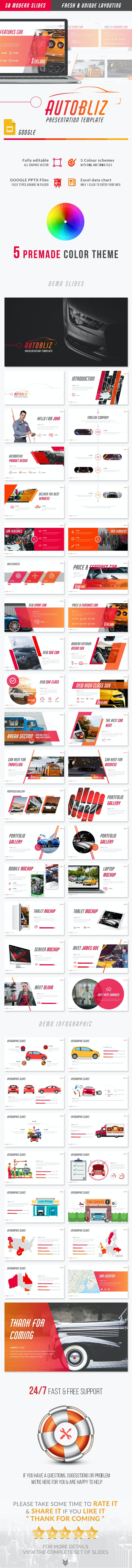 Autobliz - Automotive Google Slides Presentation Template - Google Slides Presentation Templates