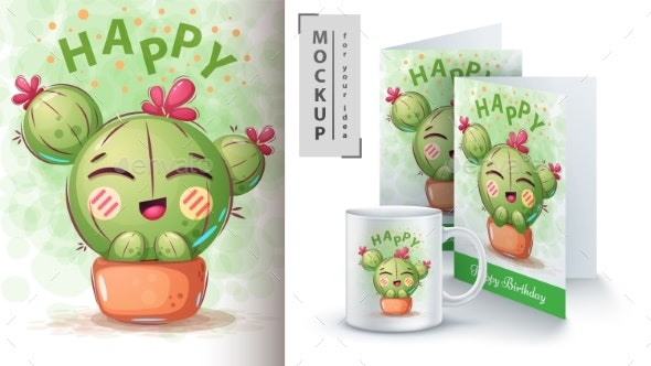 Cactus Flower - Animals Characters