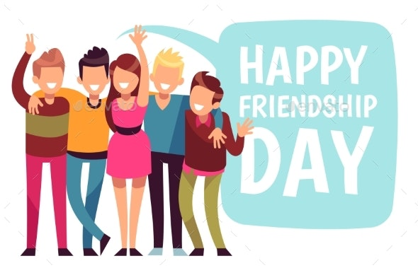Happy Friendship Day - People Characters