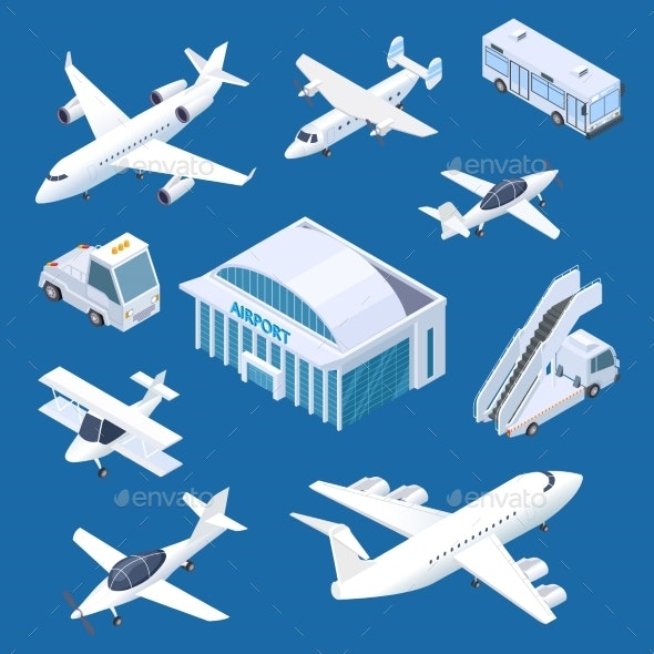 Isometric Airport - Travel Conceptual