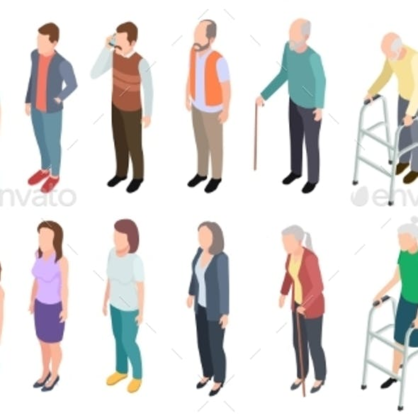 Different Generations Isometric People Adult
