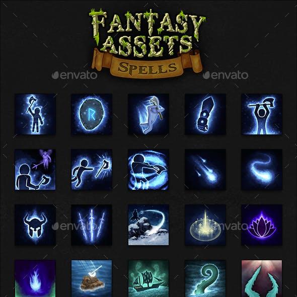 50 Fantasy Spells Icons