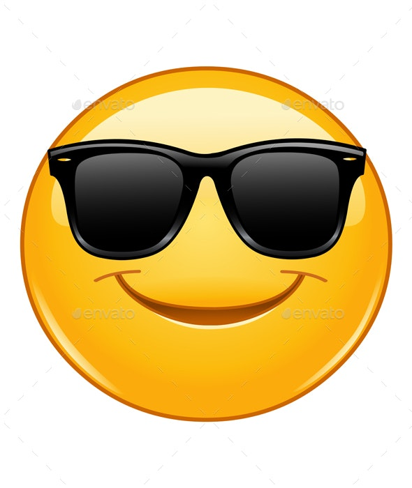 Smiling Emoticon with Sunglasses - People Characters