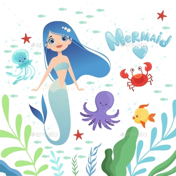 Mermaid Background - Miscellaneous Characters