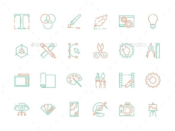 Design Tools Icons - Web Elements Vectors