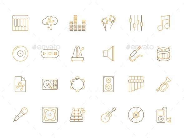 Musicians Icons - Web Elements Vectors