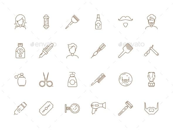 Barbershop Icons - Web Elements Vectors