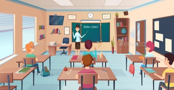 Lesson in Classroom - People Characters
