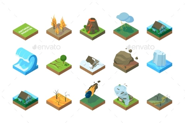 Natural Disasters - Miscellaneous Vectors