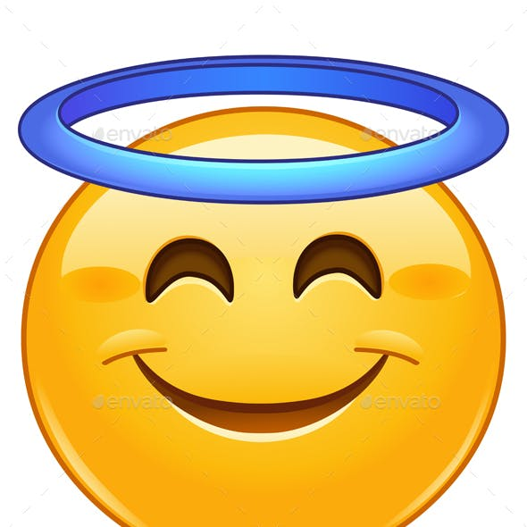 Smiling Face with Halo Emoticon