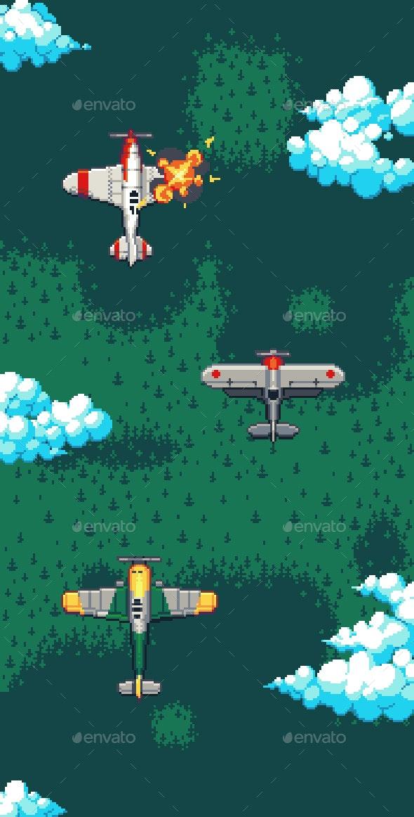 Pixelart Planes Pack - Game Kits Game Assets